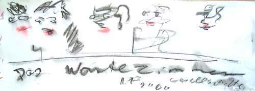kaligraphisch Darstellung mit Handschrift