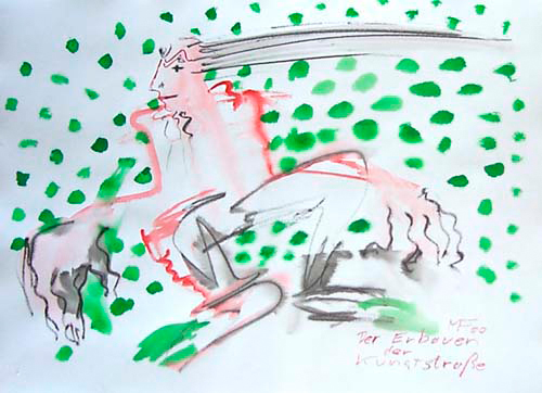 grüne Tupfer rosa Gestalt