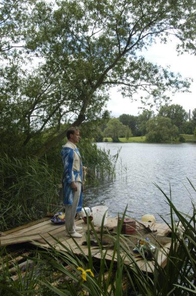 Floß in der Landschaft