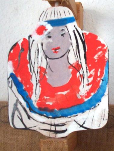 Frau in den Farben der Tricolore