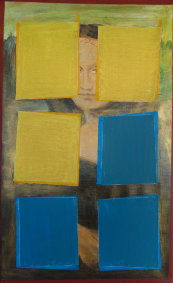Mona Lisa mit monochromen Elementen