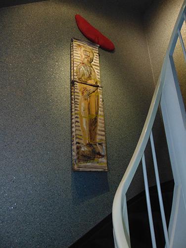 der Philosoph, an der Treppe