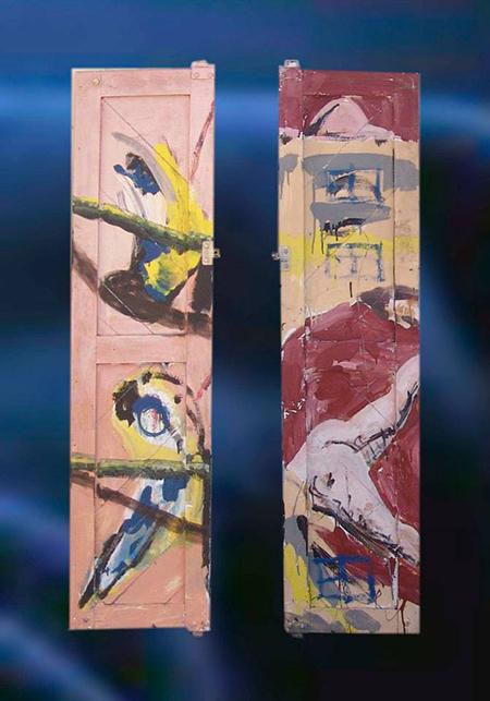 rosa gelb braun blau - rotbraun rosa blau schwarz