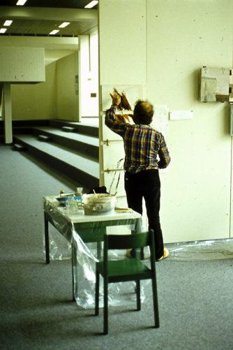 Demonstration d'un tableau pliant (b), Hackmuseum, Ludwigshafen, 1979 Gedock, Karlsruhe, 1981