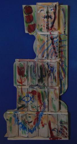 Deux visages, 70x120 cm, 1991, propriété privée