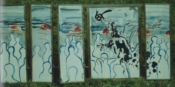 Vautours, 7 plis, hauteur 45 cm, 1986