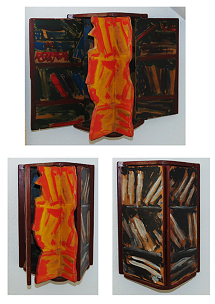 Livres, hauteur 50 cm, 1990, Propriété privée