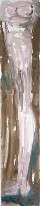 Ma jambe se mire dans l'eau », 250x50cm, 2007