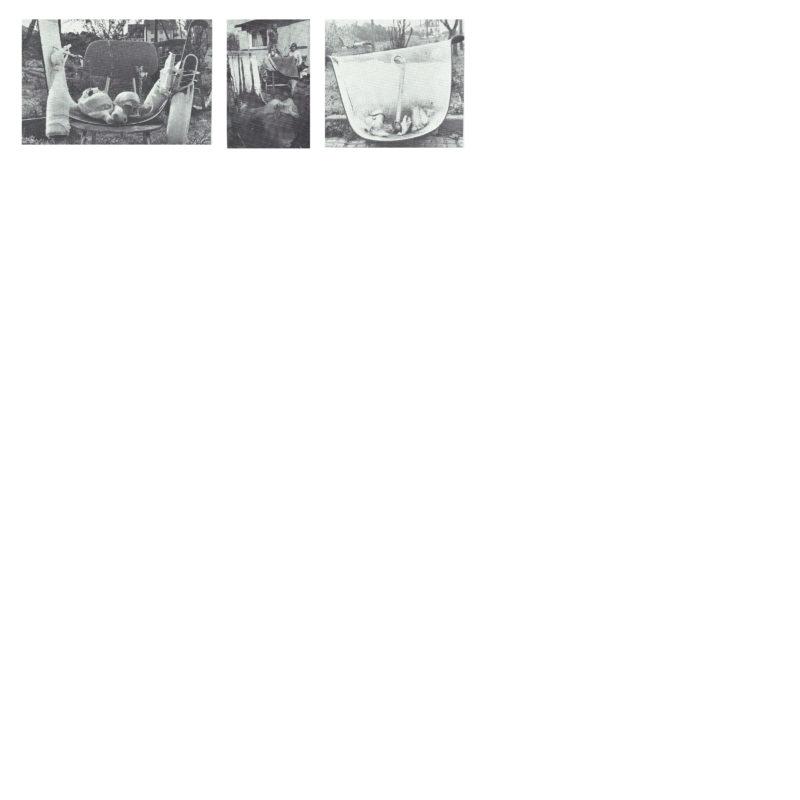 Momie » - Pièce de baignoire, objets, polyester, plâtre (disparu), 1975