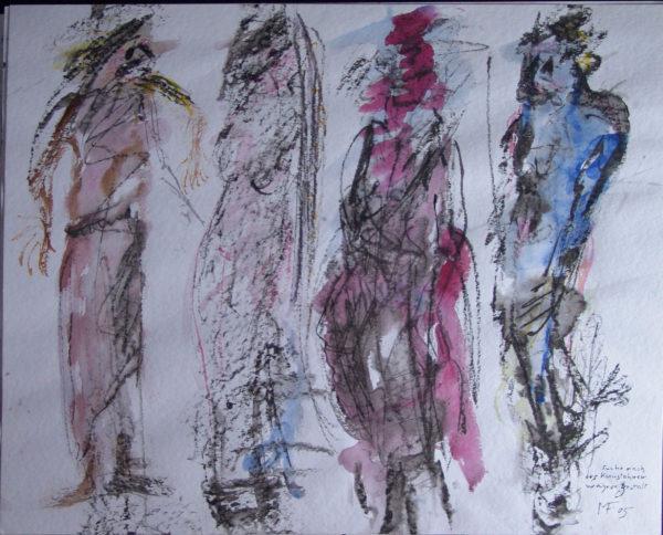 Recherche de la forme véritable de l'ancêtre d'art », 64x48 cm, 2005