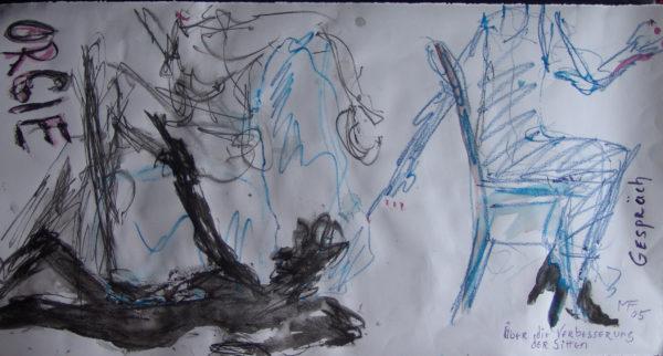 Sur l'amélioration des mœurs », 25x55 cm, 2005