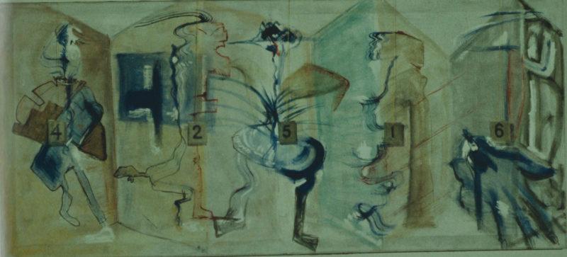 Danses impuissantes », largeur 140 cm, 1984