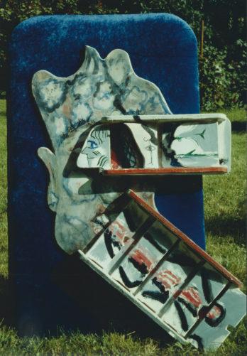 Voir, entendre, sentir, hauteur 100 cm, 1984, propriété privée
