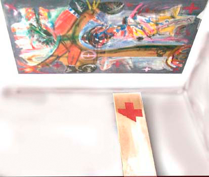 Fresque de plafond « Surbeuys », 100x200 cm + 30x100 cm, 1991