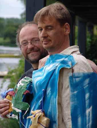 Action « Ancêtre d'art » avec Axel Theune », Gottingue, 2004