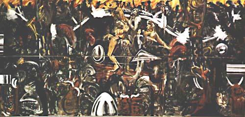 … et ils veulent édifier le cerf bramant », 450x200 cm, 1987