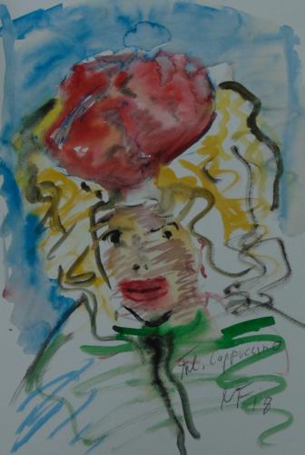 «Mademoiselle Capuccino» - Aquarelle, 48x59 cm, 2018