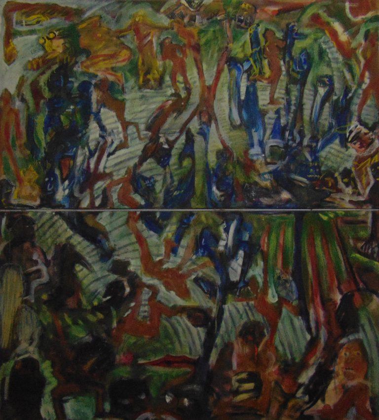 Enfants humains », 200x200 cm, 2007