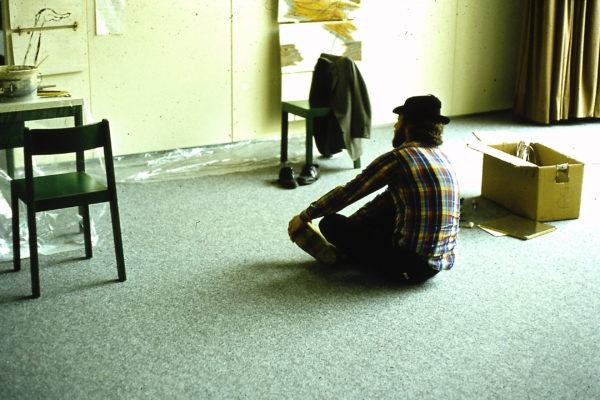 Demonstration d'un tableau pliant (b), Hackmuseum, Ludwigshafen, 1979 , Gedock Karlsruhe, 1981