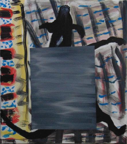 Le néant et le chien dormant », 80x90 cm, 2017