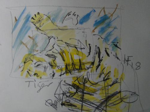 «Etude de tigre», 59x48 cm, 2018