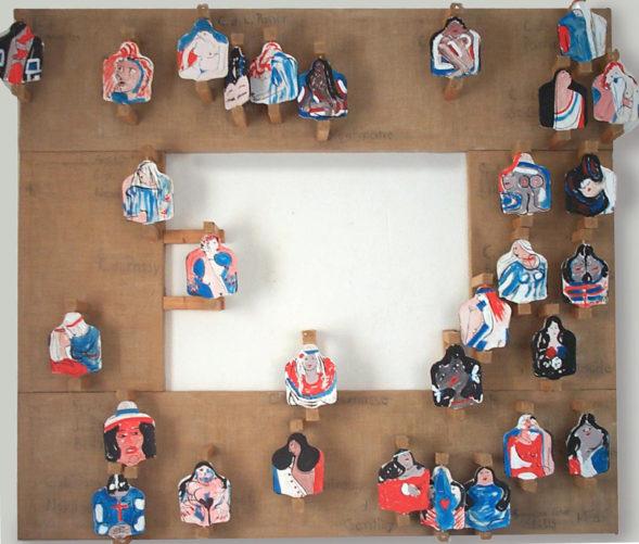Tableau urbain à rabats, (détail a), 200x200 cm, 1995