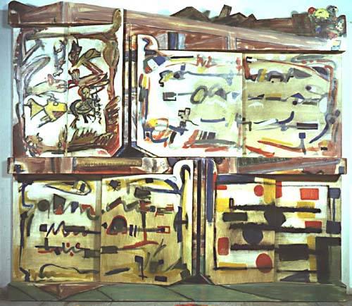 Livres (tableau à rabats électronique, 1989), 220x250 cm, 1989