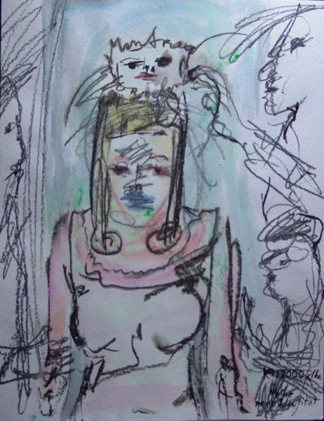 Ma nouvelle identité, signé 12000 av.J.C., 48x64 cm, 2005