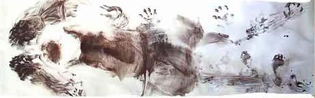 Empreinte physique de l'ancêtre d'art », longueur de 300 cm, 2004
