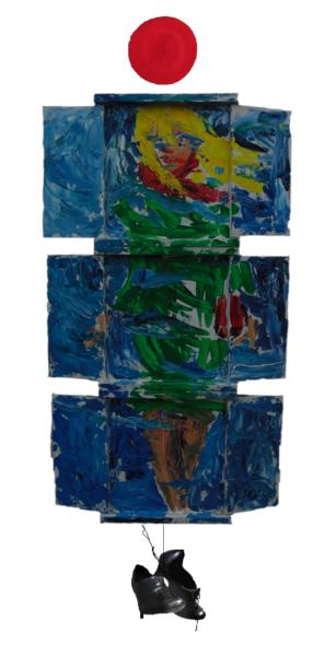 «Robe verte et bonnet et chaussures», hauteur de 130 cm, 2018