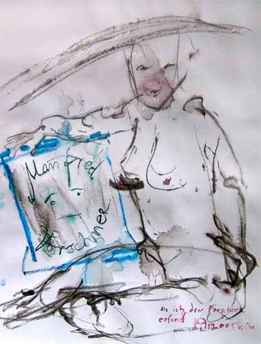 Quand j'ai inventé Manfred Forschner «,48x64cm, signé KA av.J.C., 2005